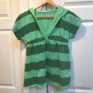 Splendid Green Striped Sweater T-shirt